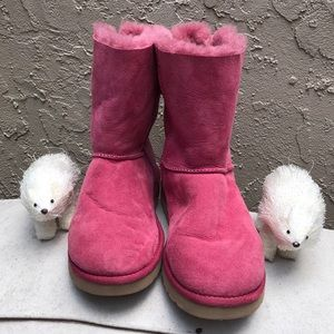 Pink Ugg Boots Tie Bows on Back